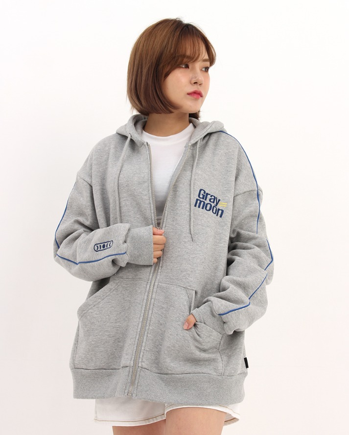 Equal Hood zip-up_gray